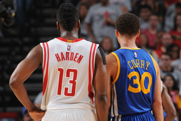 James Harden y Stephen Curry