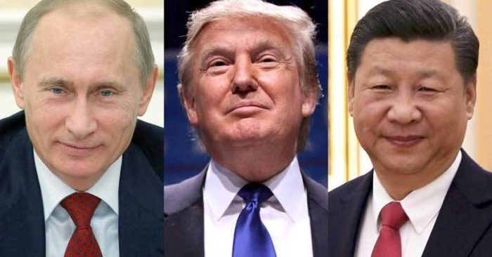 Collage ilustrativo Putin, Trump y Xi