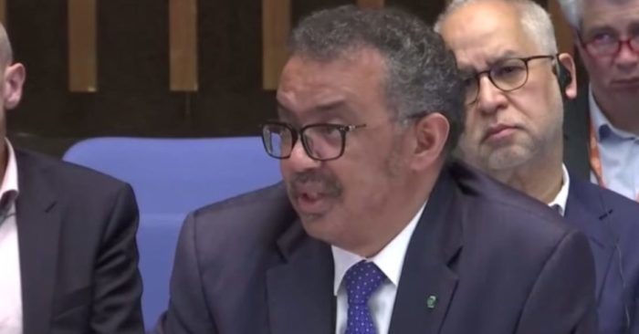 El Director General de la OMS, Dr. Tedros Adhanom Ghebreyesus. (Captura de video de Youtube